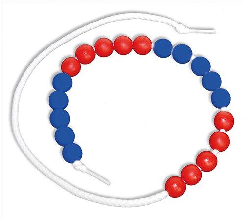 Rechenkette bis 20, rot/blau, 5er Schritte