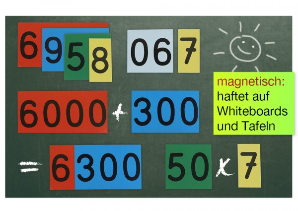 Demo-Dezimalstellenwert-Karten, magnetisch, 70 Stück