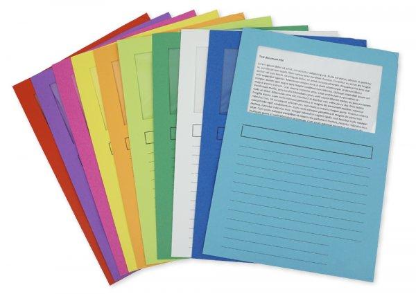 Set Dokumenten-Hüllen aus Pappe A4-Plus, 10 Stück, farbig