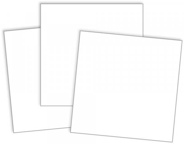 Blanko-Einsteckkarten 12-tlg., ca. 9 x 9 cm