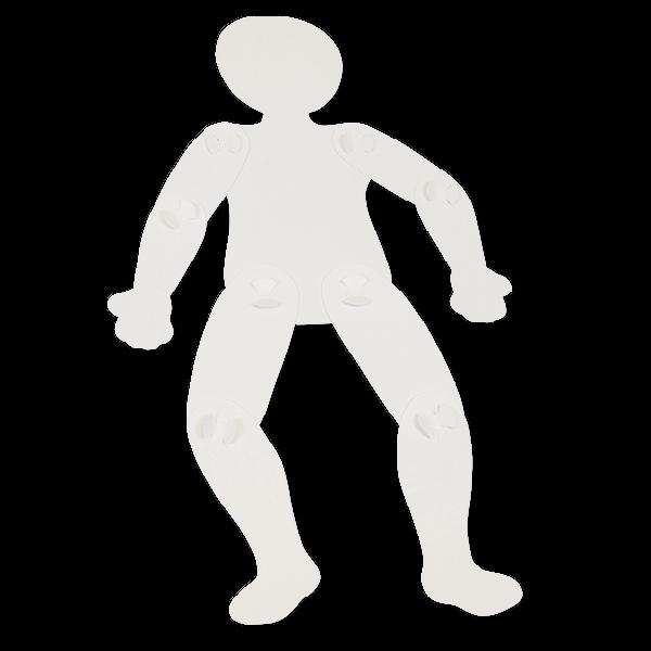 Bewegliche Menschensilhouetten zum Selbstgestalten, 24 Stück