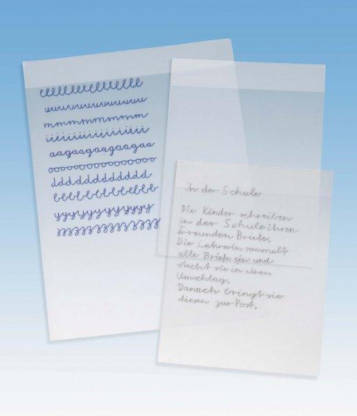 Set Schreibfolien m. Fixierleiste, 5 Stück, A4