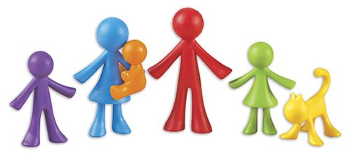 Set Familien-Figuren farbig sortiert, 72-tlg., in Dose