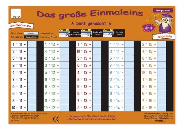 "TimeTEX Zaubertafel ""Mathematik"" Großes 1x1"