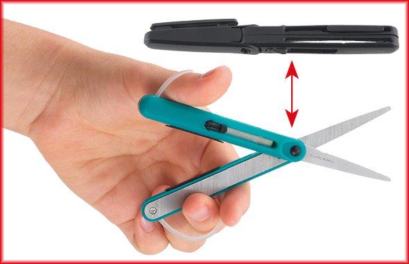 Stift-Schere mit Kappe und Clip, 125mm