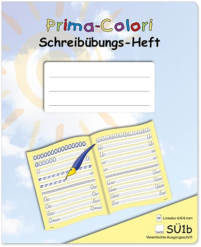 Prima-Colori Schreibübungs-Heft SÜ1b