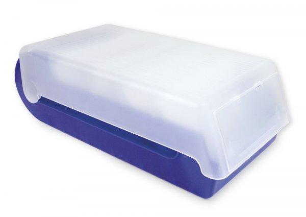 Lernbox A7, Kunststoff, mit 100 Karten liniert