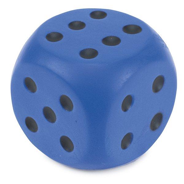 Flüster-Würfel, 6 cm, rot, grün oder blau