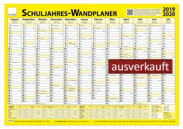 TimeTEX Schuljahres-Wand-/Projektplaner 2019/2020