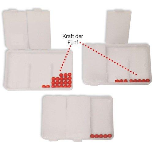 Flüster-Schüttelbox 3-tlg., mit 10 Perlen