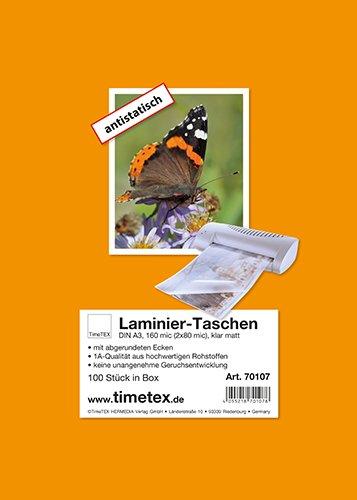 Laminier-Taschen A3 2x80 mic matt, 100 Stück