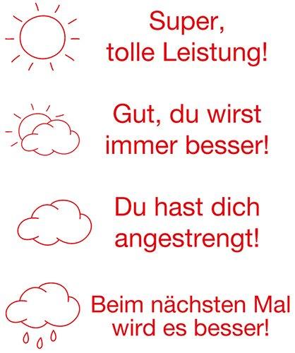 """Siebdruck-Stempel """"Perpetuum"""", 4 in 1, """"Sonne und Wolken"""""""