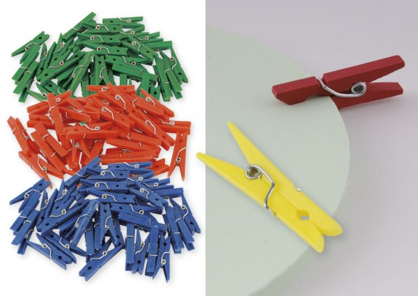 Set Kunststoff-Klammern 35 mm (f. Markierungen), 250 Stück