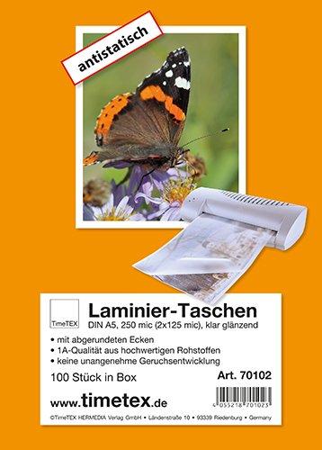 Laminier-Taschen A5 2x125 mic glänzend, 100 Stück