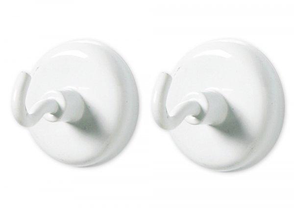 Magnet-Haken-Set, 32 mm ø, weiß, 5-tlg.