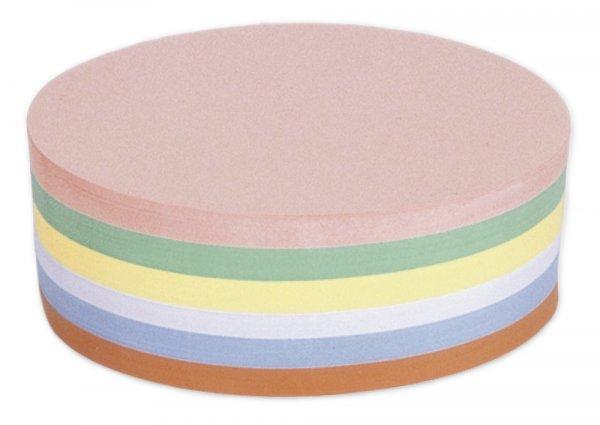 Moderationskarten, farb.sort., oval, 11 x 19 cm, 250 Stck.