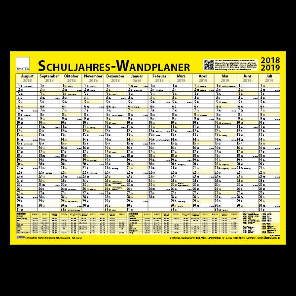 TimeTEX Schuljahres-Wand-/Projektplaner 2018/2019