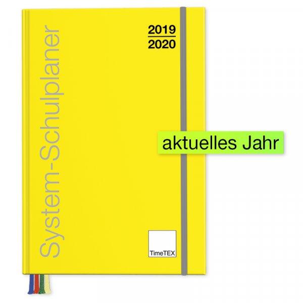 TimeTEX System-Schulplaner A4-Plus, gelb 2019/2020