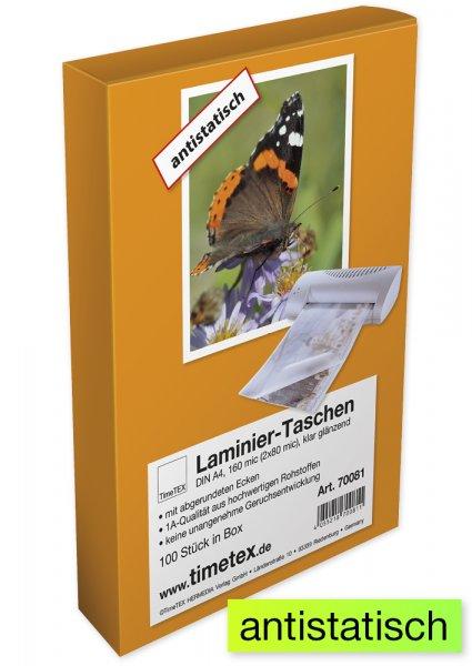 Laminier-Taschen A4 2x80 mic glänzend, 100 Stück
