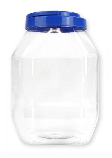 Aufbewahrungsdose groß mit Schraubdeckel blau, transparent