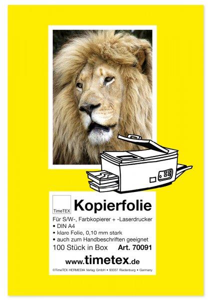 TimeTEX-Kopierfolie A4, sw + Farbe, Box 100 Stck.