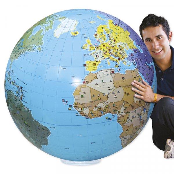 """Globus-Ball """"Mega"""", Beschriftung englisch, ca. 85 cm ø"""