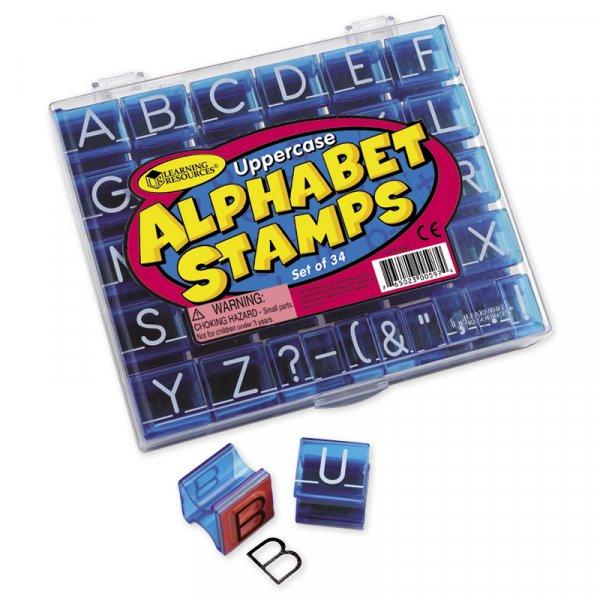 Set Alphabet-Stempel Großbuchstaben, 34-tlg.