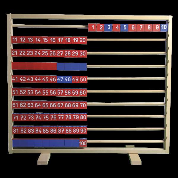 Demo-Tisch-Rechenrahmen 1-100, ca. 88x79 cm