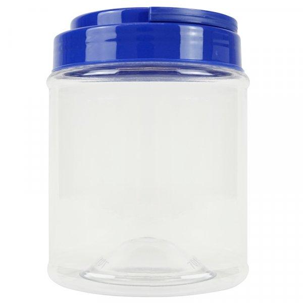 Aufbewahrungsdose klein mit Schraubdeckel blau, transparent