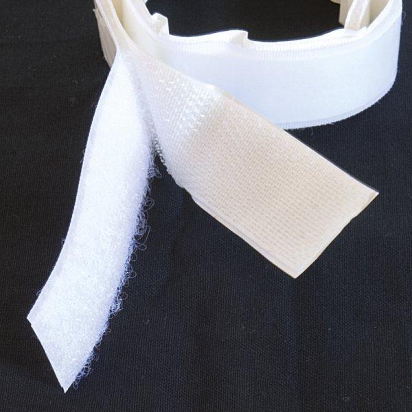 TimeTEX-Klettband selbstklebend, weiß, 1 m
